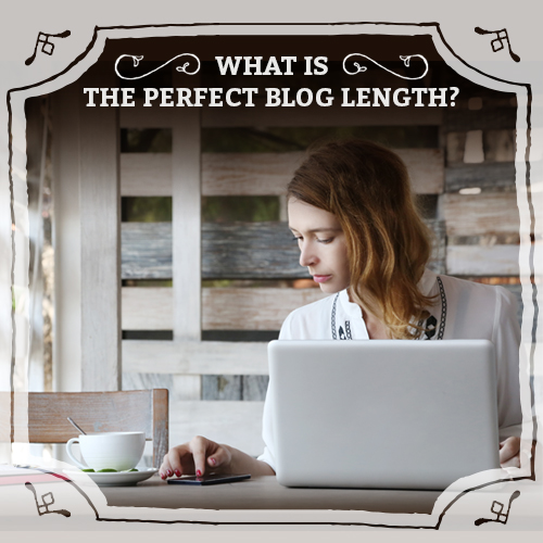 girl in front of laptop writing a blog